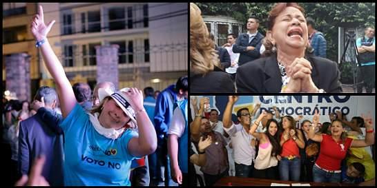 Fotos: así celebran partidarios del 'no' su victoria en el plebiscito