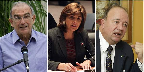 Humberto de la Calle, María Ángela Holguín y Luis Carlos Villegas.