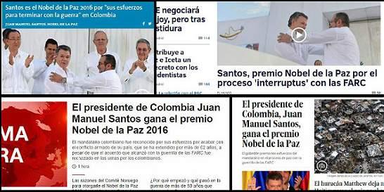 Medios del mundo registraron el Nobel para el presidente Santos
