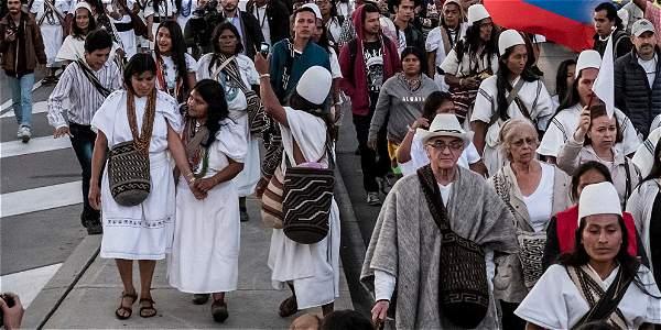 Cerca de 6.000 indígenas marcharán en Bogotá.