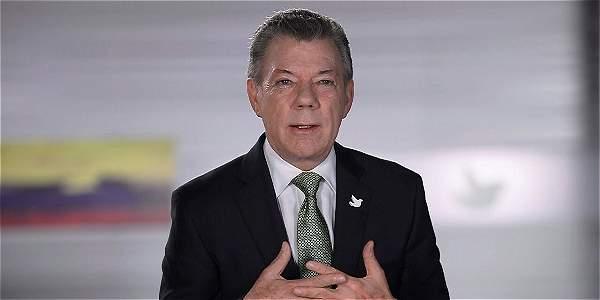 Santos habla de la marcha por la paz