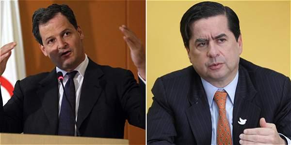 Sergio Jaramillo, alto comisionado para la Paz, y el ministro del Interior, Juan Fernando Cristo.