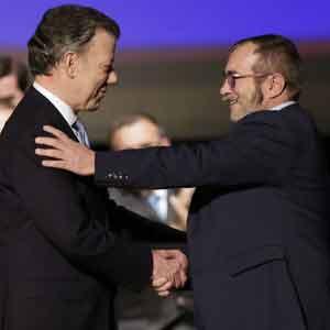 La paix, le propos du président Juan Manuel Santos