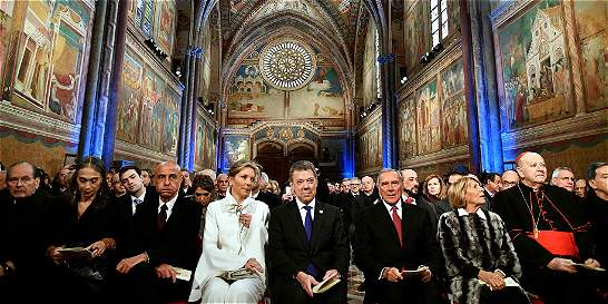 Presidente Santos recibió el premio 'Lámpara de la Paz' en Italia