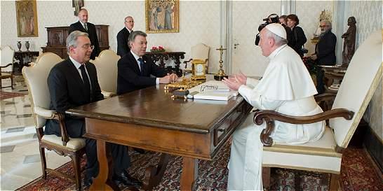 Así se gestó el encuentro de Uribe y Santos con el Papa Francisco