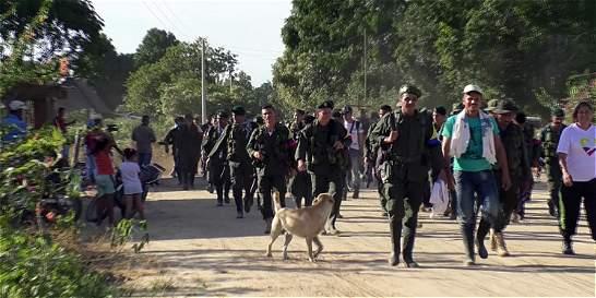 Farc denunciaron hostigamiento del Ejército en zona de preagrupamiento