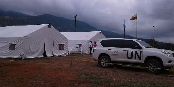 La ONU ya  tiene sus campamentos en la vereda La Guajira, en Meseta, para ejercer mecanismo de monitoreo y control