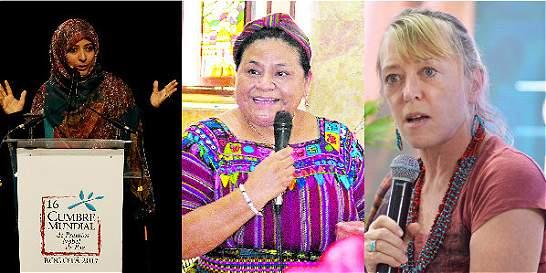 El mensaje de tres mujeres Premio Nobel de Paz a Colombia