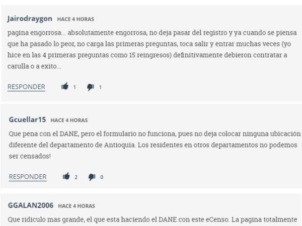 comentarios e-censo