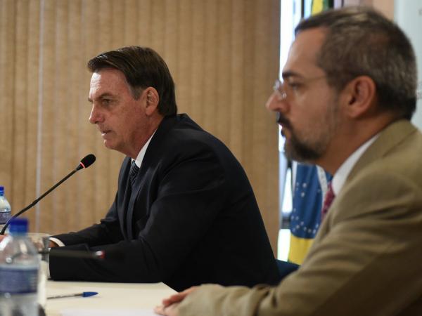 Abraham Weintraub y Jair Bolsonaro