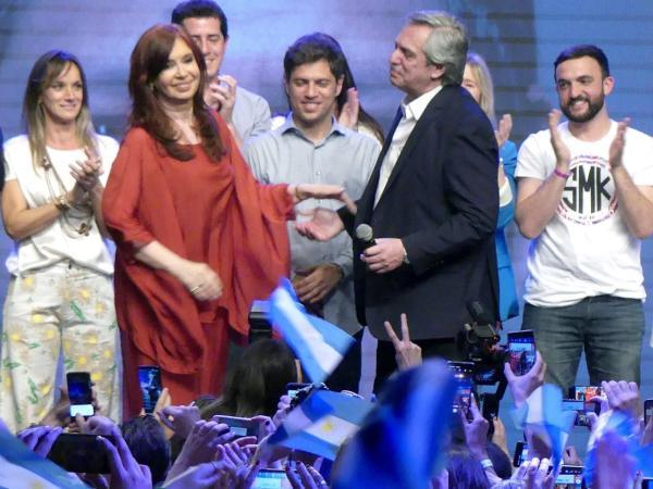 Alberto Fernández y Crisitina K