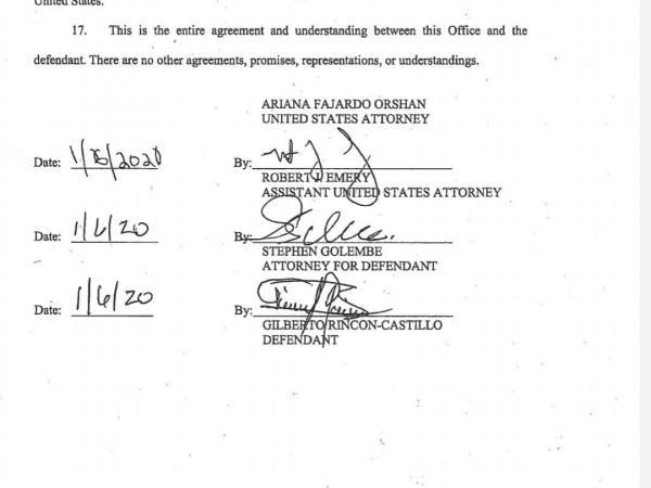 Acuerdo de Gilberto Triana con EE. UU.
