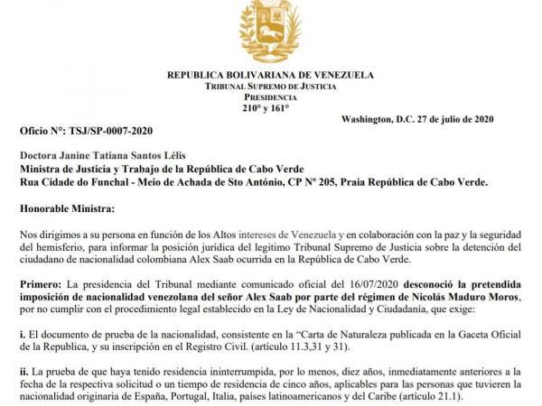 Saab quiere arresto domiciliario en Cabo Verde