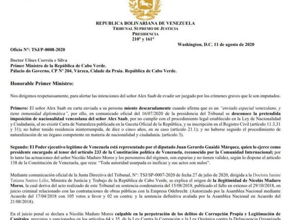 Carta a Cabo Verde