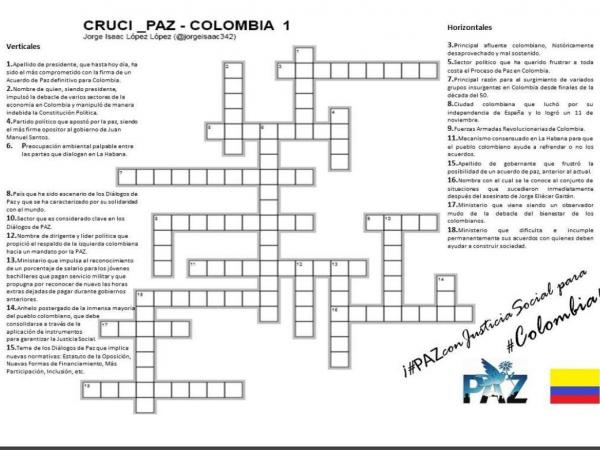 Crucigrama Santos - Uribe