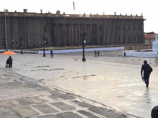 Plaza de Bolívar - lluvias