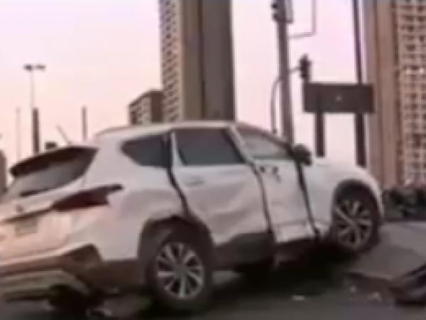 Carro accidentado en Chile