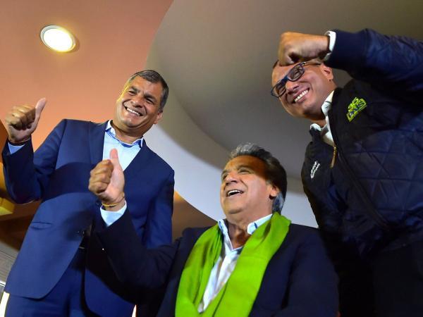 Lenín Moreno ganó en Ecuador y lo felicitaron de Macri a Maduro