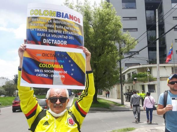 Marchas de ciudadanos venezolanos en Bogotá