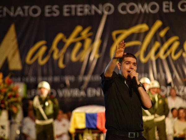 Peter Manjarrés en el homenaje a Martín Elías