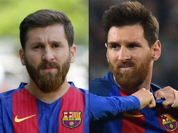 Reza Parastesh doble de Messi