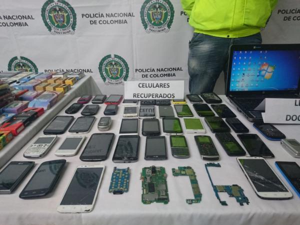 Recuperan 120 celulares robados en Suba