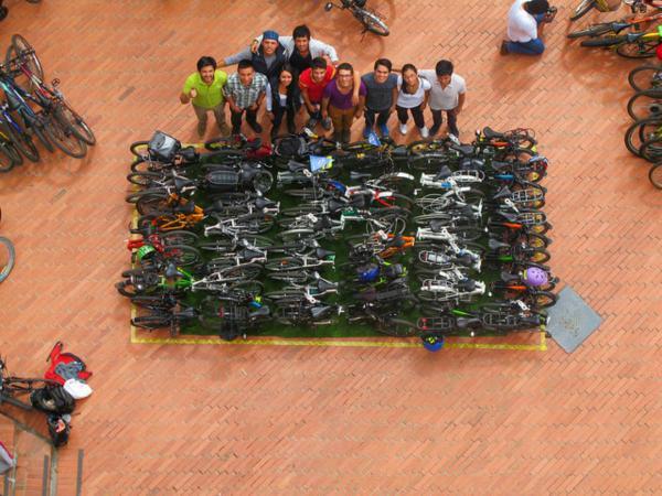 Espacio de bicicletas en Bogotá