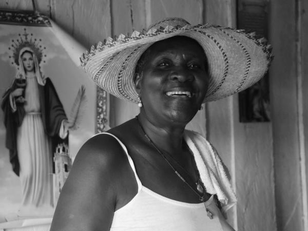 La maestra Inés Granja nació en Timbiquí, en 1951.