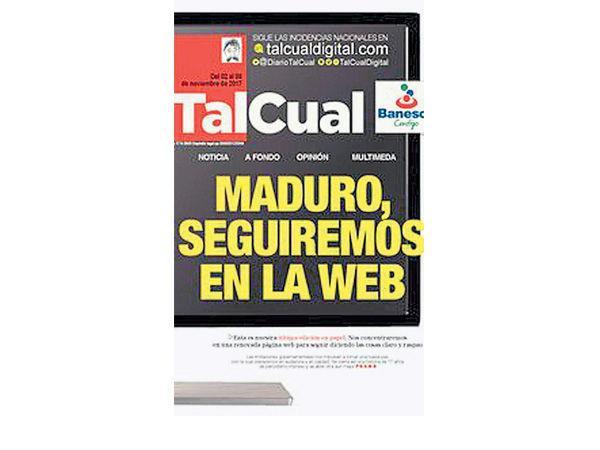 59fd16ad6ba43 - Presidente Maduro asfixia la edición en papel del periódico 'TalCual'