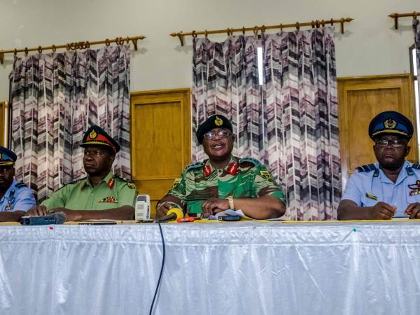 Constantino Chiwenga, jefe del Ejército de Zimbabue
