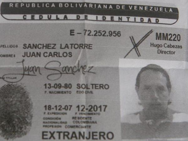 BBC Mundo: Documento de identidad de Juan Carlos Sánchez (Foto: Diario Versión Final)