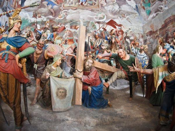 BBC Mundo: Reproducción de el Calvario de Jesús.