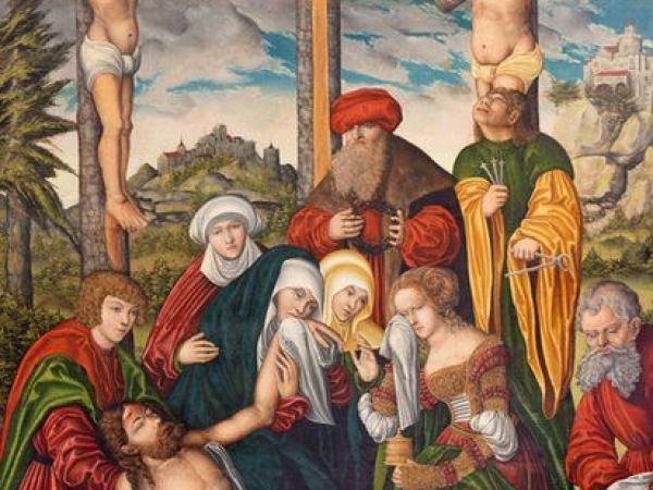 BBC Mundo: Pintura de la deposición de la Cruz en la iglesia Marienkirche del taller de Lucas Cranach (1536).