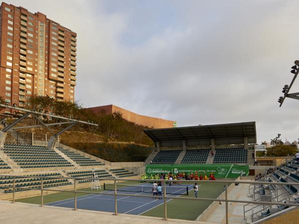Parque Raquetas, en Barranquilla.