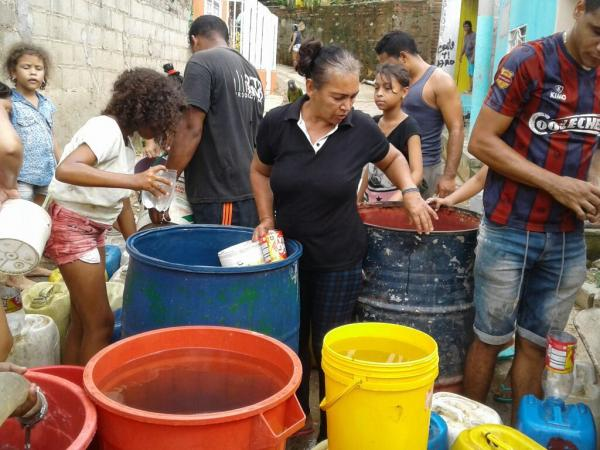 Barrios sin agua en Santa Marta