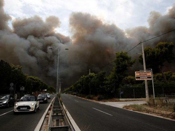 Incendios en Grecia.