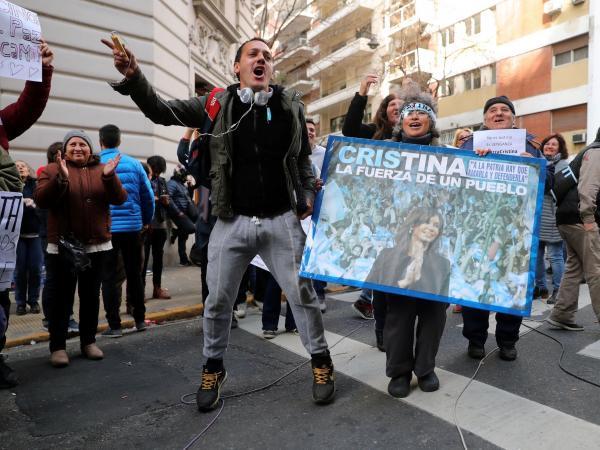 Manifestaciones a favor de la expresidenta Cristina Kirchner