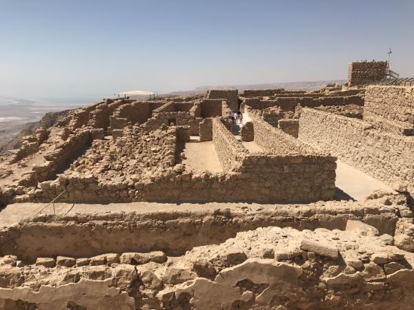 Las ruinas de Masada
