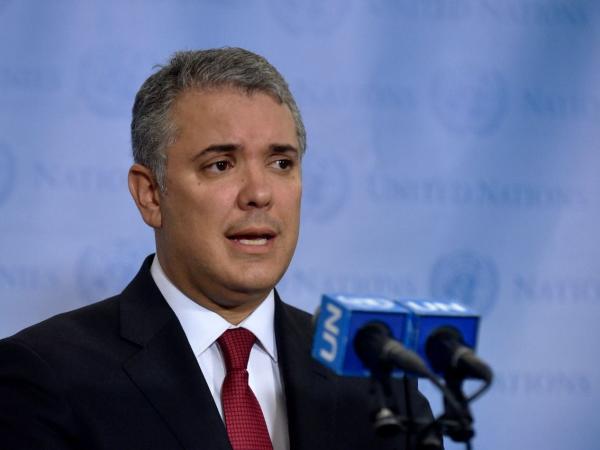 Iván Duque en la ONU.