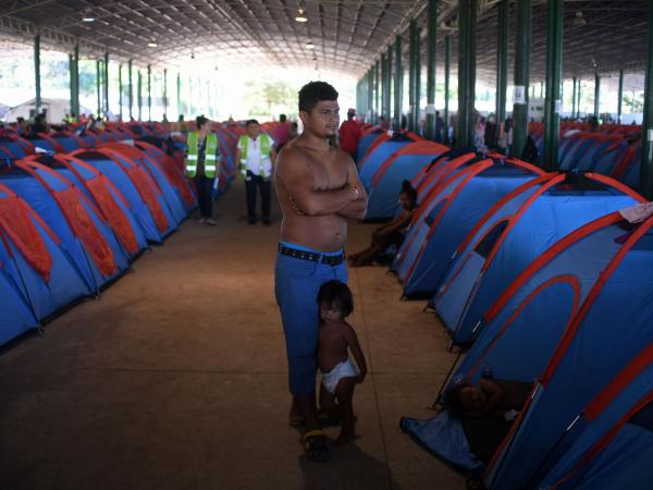 Inmigrantes hondureños en Tapachula