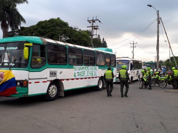 Protesta de transportadores