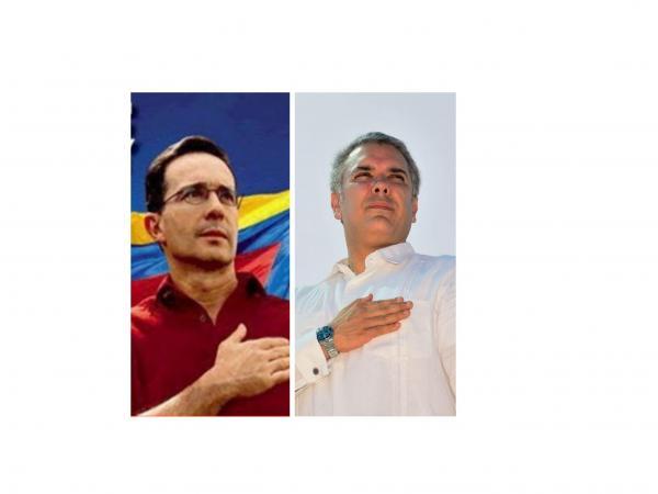 El expresidente Álvaro Uribe y el presiente Iván Duque