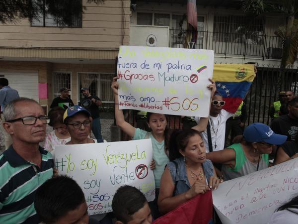 Protestas en Medellín contra Maduro