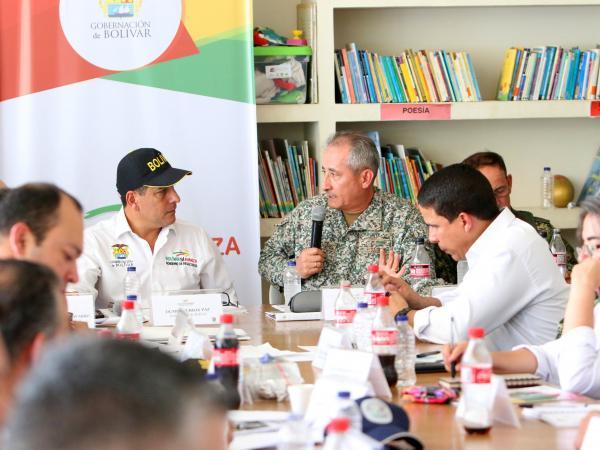 El consejo de seguridad fue presidido por el Gobernador de Bolívar, Dumek Turbay.