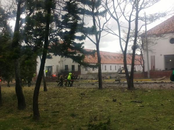 Fuerte explosión en la Escuela de Policía General Santander