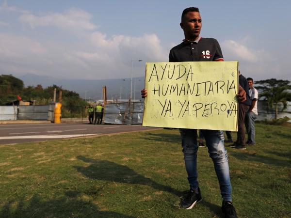 Venezolanos en la frontera