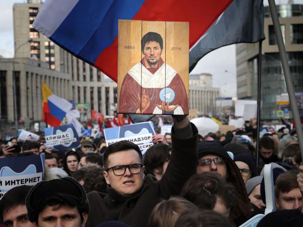 Protestas en Rusia por internet