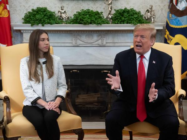 Donald trump y Fabiana Rosales