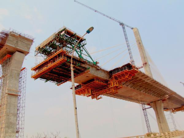 Obras del nuevo Puente Pumarejo
