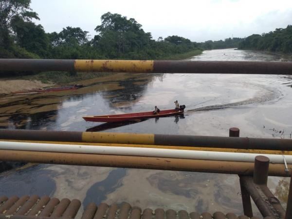 Contaminación en ríos de Tibú